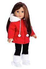 Winter Extravaganza - 18 inch Doll Clothes, Parka Coat Black Leggings Boots