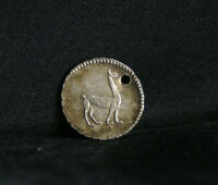 1846 Peru 1/4 Real Lima Silver World Coin KM143.1 Llama Vicuna animal RARE