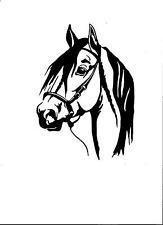 WINDOW, CAR, VEHICLE, TRAILER, PASO HORSE VINYL DECAL