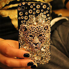 New Bling Leopard head Crystal Finished HARD Case cover for APPLE iPhone 4 4S 4G