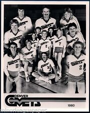 1980 Denver Comets IVA Volleyball Glossy Team Photo #FWIL
