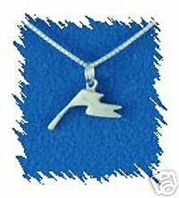 Sterling Silver Color Guard Single Flag Charm