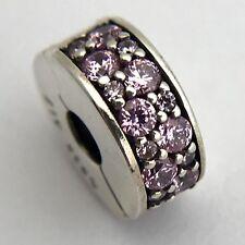 Authentic Pandora Shining Elegance Pink CZ Clip Charm 791817PCZ New