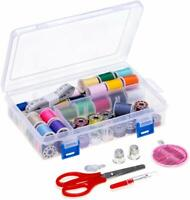Needle Sewing Thread Kit Bobbins 32PCS Mix Color Strong Polyester Sewing Thread