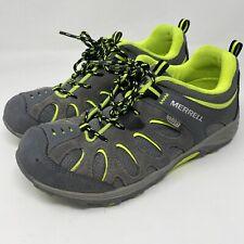 Merrell Kids Chameleon Low Lace Wtrpf Sneaker Green Hiking Waterproof Size 5M