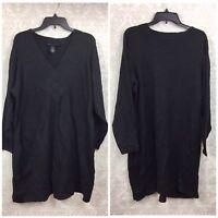 Lane Bryant 22/24 Plus Womens NWOT Black Cross Weave Long Sleeve Sweater Dress