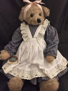 """GANZ COTTAGE COLLECTIBLES~MARY HOLSTAD 18"""" PLUSH GIRL BEAR KATHY~Easter Basket"""