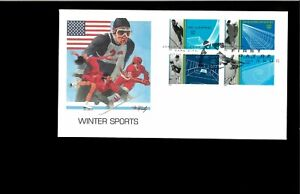 2002 First day Cover Winter Olympic Sports Park City UT