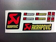 Kit 10 Adhesivos Pegatinas AKRAPOVIC resistente al calor