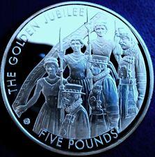 """JERSEY: 2002 £ 5, """"GOLDEN JUBILEE"""", Argent .925 Proof + bouchon + cert-Qualité supérieure"""