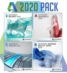 Pack Autodesk 2020 ⭐Aut0cade ✔️ Revit ✔️ 3DsMax ✔️ Civil 3D⭐ LIFETIME License 🔥