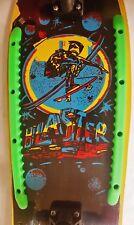 """Vintage Rare C.1980 21"""" NOS Skateboard Skate Board Multi Color Skate Boarder"""