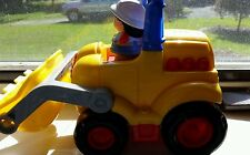 Mattel 2003 Fisher Price Little People Big Construction Bulldozer Frt end Loader