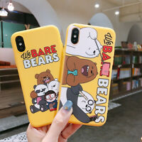 For iPhone 11 Pro XS MAX 7 8+ Cute cartoon Selfie We Bare Bears soft phone Case