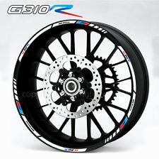 G310R motorcycle wheel decals 12 rim stickers set bmw g310 R stripes Motorsport