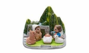 """Machu Picchu Nativity Scene - Handmade in Clay - 1 block - 3.15""""X2.15""""X3.15""""high"""