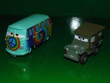 "DISNEY Pixar Cars esclusivo pressofusione AUTO FILLMORE ""Chase"" (DISNEYSTORE) & SARGE"