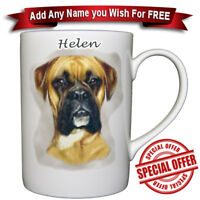 Boxer - Bone China Mug + Personalised with any name added for free