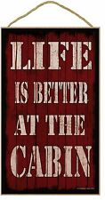 """Red Life Is Better In The Man Cave  Sign Plaque 10""""X16"""""""