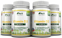Vitamin D3 10000IU 4 x 365 Softgel super stark 100% Back Garantie von Nu U