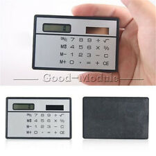 8 Digits Ultra Thin Mini Slim Credit Card Solar Power Pocket Calculator GM