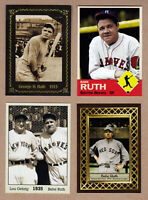 Lot of 4 rare Babe Ruth cards: St Marys/Rookie Year/Final Season/with Gehrig 🔥