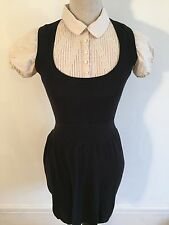 Miss Selfridge Vintage Style Shirt Sweater Dress Size 10