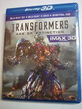 Transformers: Age of Extinction 3D  (Blu-ray 2D/3D, DVD, 2014, 4 Discs)