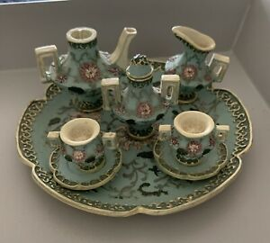 Miniature Tea-set Blue & Cream