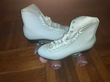 Chicago Roller Skates, Quad, Ladies Size 6 (Women's Size 7) White/Pink