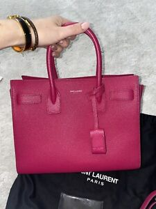 yves saint laurent sac de jour Pink Leather Small With Strap Authentic