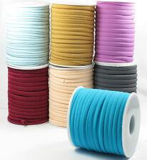 1pcs 27colors 20m/Spool 5mm Elastic Fabric Lycra Cord String Soft Lycra String