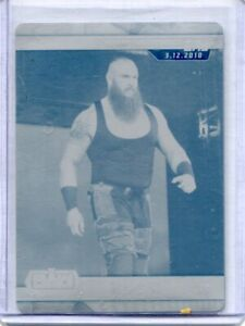 2019 Topps WWE Road to Wrestlemania - BRAUN STROWMAN - Printing Plate 1 of 1