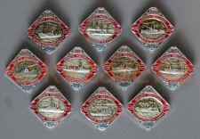 10x Vintage Soviet Badges: Ships of the Revolution (1980s)