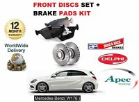 FOR MERCEDES A250 2.0 208BHP W176 2012-> NEW FRONT BRAKE DISCS SET + PADS KIT