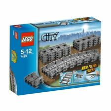 BRAND NEW LEGO CITY FLEXIBLE AND STRAIGHT TRAIN TRACKS TRACK 7499 SEALED