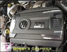VW GOLF Mk 7 R GTI PASSAT POLO 6C Engine & Fuse Box Vinyl Set in 8D Carbon