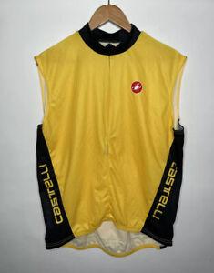 Castelli Sleeveless Cycling Jersey Size Men's XL Yellow