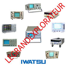 IWATSU Oscilloscope Operation Repair Service Manuals & Schematics  manual s DVD
