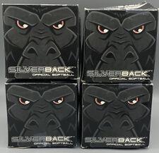 Silverback Leather 12� Asa .44 Core/375 Compression White Softball (4) Brand New