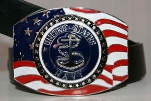 United States Navy Anchor Crest Seal Belt Buckle