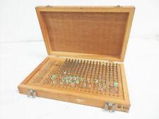 Meyer M 1 Plus 061 250 Machinist Pin Gage Set Wooden Box