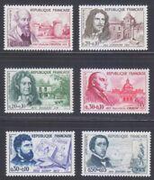 France 1960 MNH Mi 1309-1314 Sc B341-B346 Artists,composers,scientists,medics.**