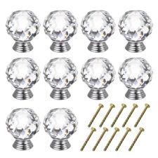 10 Pack 40mm Crystal Cabinet Knob Clear Dresser Knobs Handle for Kitchen Dresser