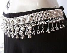 Womens Fashion Dress Sash Silver Waist Belt Gypsy Boho Tribal BellyDance Jewelry