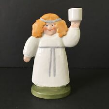 Vintage Lisa Larson Goebel Germany Lucia Girl Candle Holder Sculpture Figurine