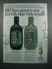 1983 Gillette For Oily Hair Only Shampoo and Rinse Ad