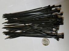"""50 Pack 8"""" Black Zip Ties Cable Ties Heavy Duty Nylon UV Resistant UL Scorpion"""