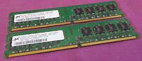 2GB Micron MT16HTF12864AY-667D4 667MHZ PC2-5300U 240-Pin Non-ECC Desktop Memory