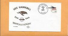 U.S.S. HAWKBILL SSN 666 10th BIRTHDAY FEB 4,1981 MARE ISLAND